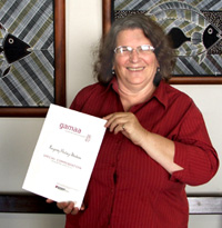 Maria Thoumine with GAAMA certificate